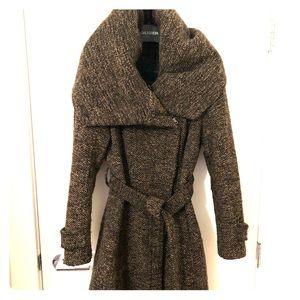 Zara wool blend coat with hood